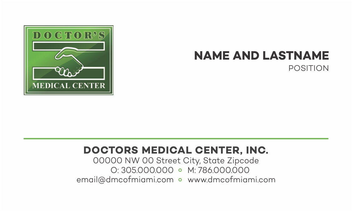 Business Cards - Doctor\'s Medical Center Marketing